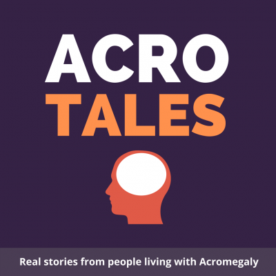 AcroTales Logo - A Podcast series featuring real life stories from people living with Acromeglay